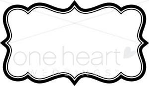 Bracket border clipart freeuse stock Stylized Bracket Clipart | Wedding Borders freeuse stock