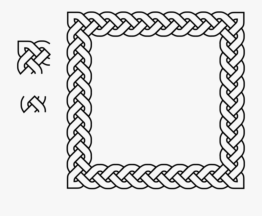 Braided rope clipart clipart freeuse download Irish Clipart Braided Rope - Celtic Knot Border Square #1005510 ... clipart freeuse download