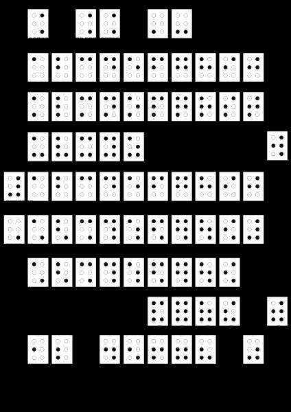 Braille alphabet free clipart jpg stock Braille alphabet francais PNG Clip arts for Web - Clip arts free PNG ... jpg stock