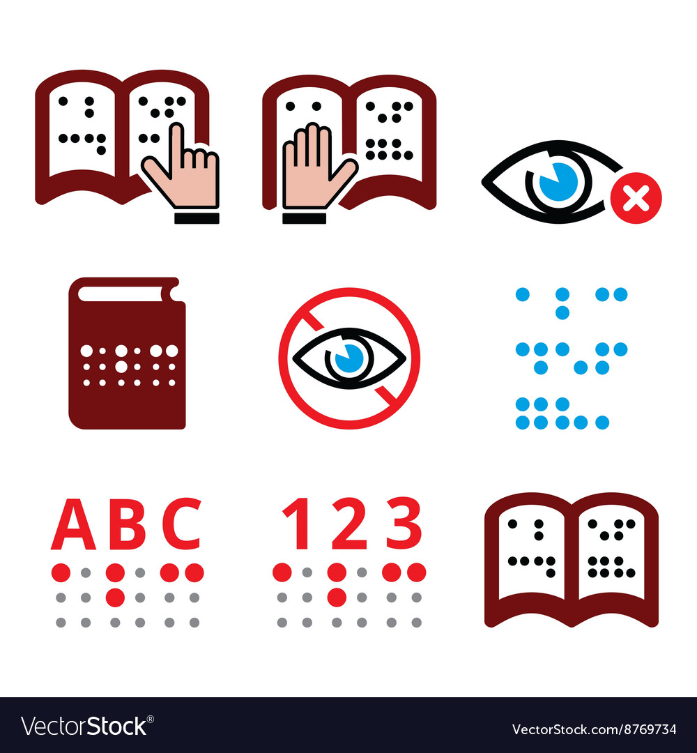Braille alphabet free clipart picture black and white stock Blind people Braille writing system icon set picture black and white stock