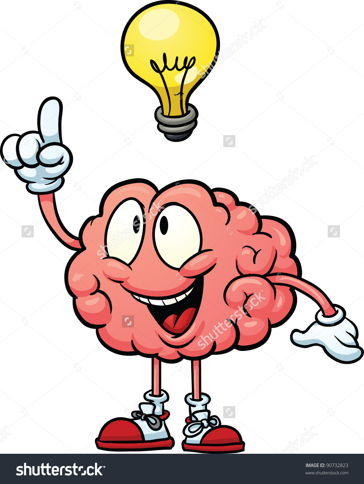 Brain cartoon clipart png transparent library Thinking Brain Clipart | Free download best Thinking Brain Clipart ... png transparent library