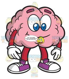 Brain clipart cartoon banner transparent download A Smiling Brain banner transparent download