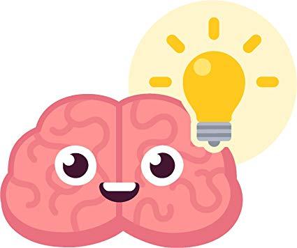 Brain emoji clipart vector black and white library Amazon.com: Adorable Cute Baby Brain Cartoon Emoji Vinyl Decal ... vector black and white library