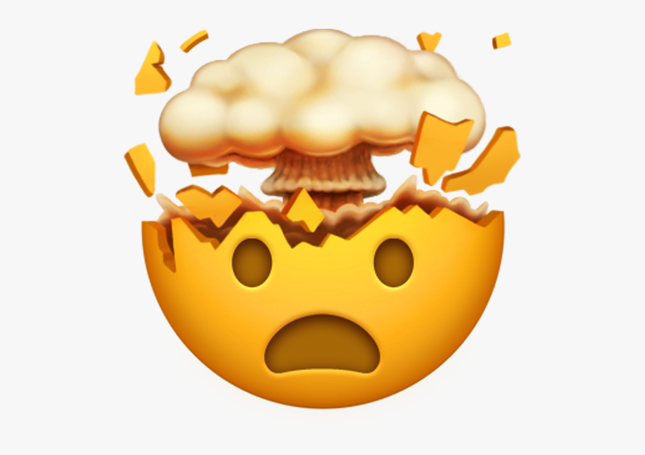 Brain emoji clipart jpg transparent download Collection Of Brain Exploding High Quality - Mind Blown Emoji Png ... jpg transparent download