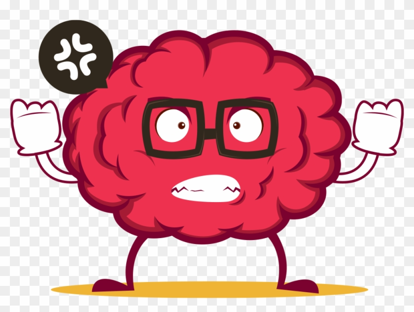 Brain exploding clipart picture black and white download Brain Emoji Stickers By El Mehdi Laidouni - Angry Brain Cartoon, HD ... picture black and white download