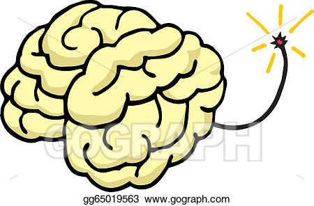 Brain exploding clipart free stock Vector Art - Brain about to explode/ blow your mind. Clipart Drawing ... free stock