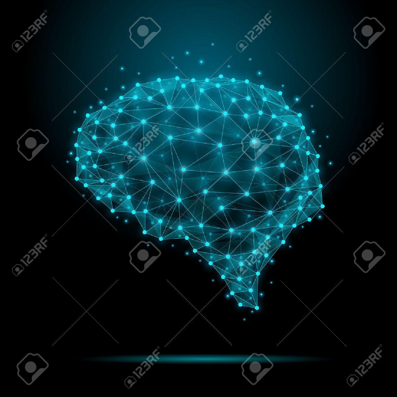 Brain nodes clipart