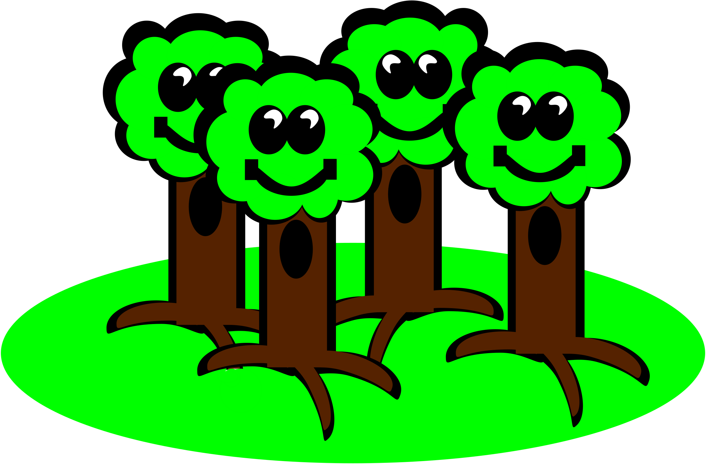 Brain tree clipart black and white library 28+ Collection of Happy Tree Clipart | High quality, free cliparts ... black and white library