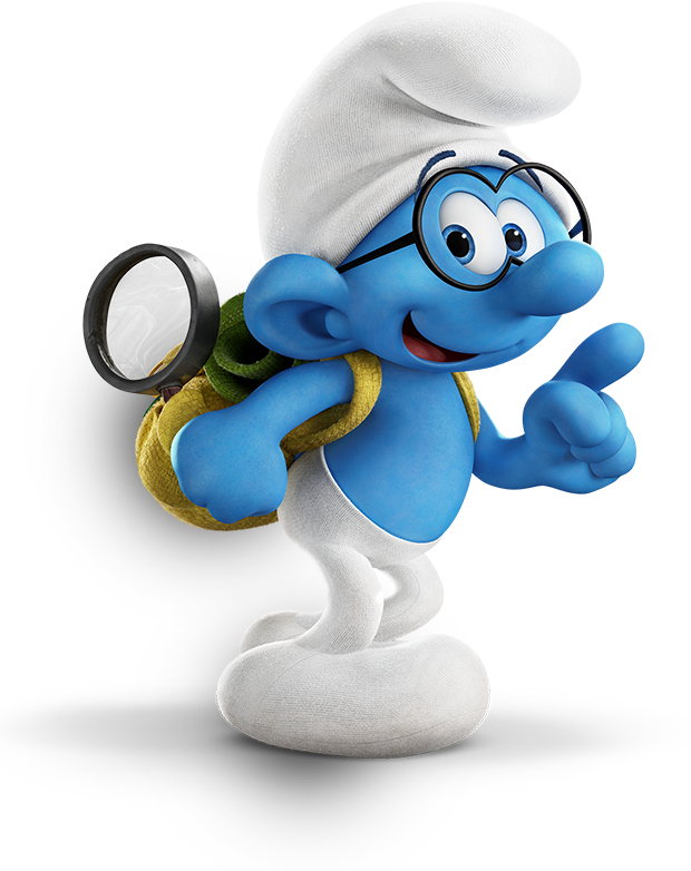 Brainy smurf holding a book clipart clipart black and white library Image - Brainy Smurf 2017Movie-3.png | Smurfs Wiki | FANDOM powered ... clipart black and white library