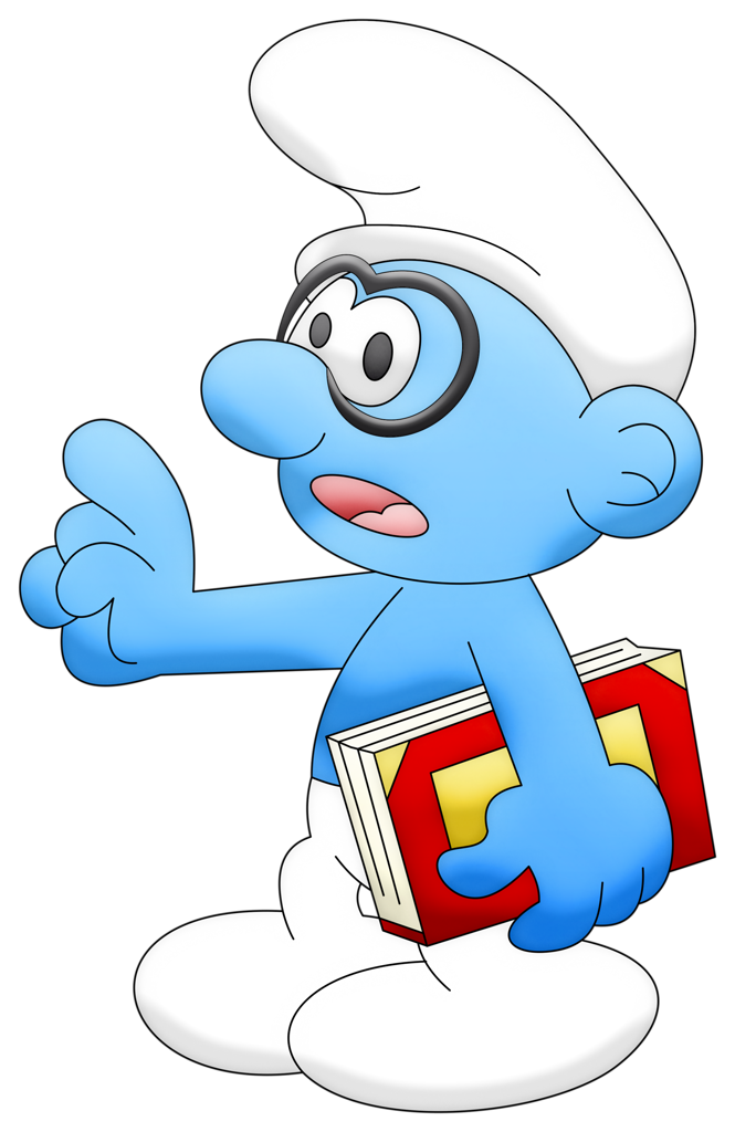 Brainy smurf holding a book clipart black and white stock CO_smurfs_Smurf genio.png | Smurfs black and white stock