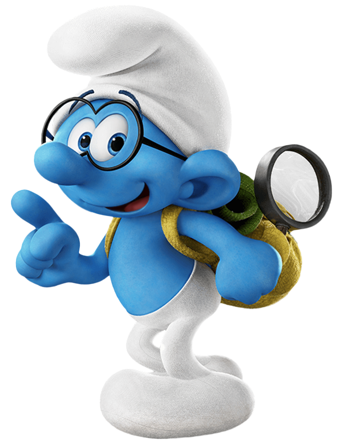 Brainy smurf holding a book clipart picture freeuse library Brainy Smurfs The Lost Village Transparent PNG Image | Gallery ... picture freeuse library