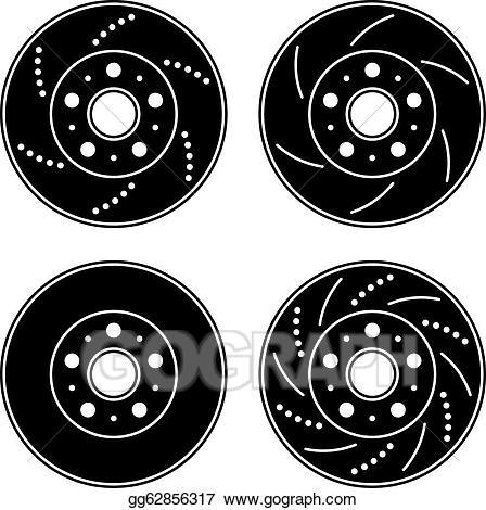 Brake disc clipart