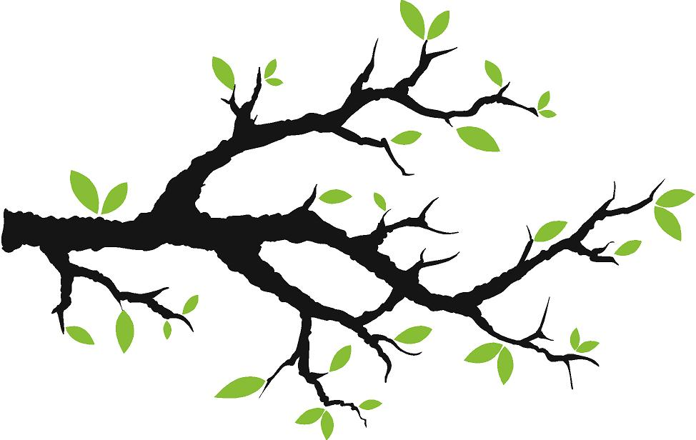 Branch clipart free clip art black and white Tree Branch With Leaves Vinyl Wall Decals Trees & Branches clipart ... clip art black and white