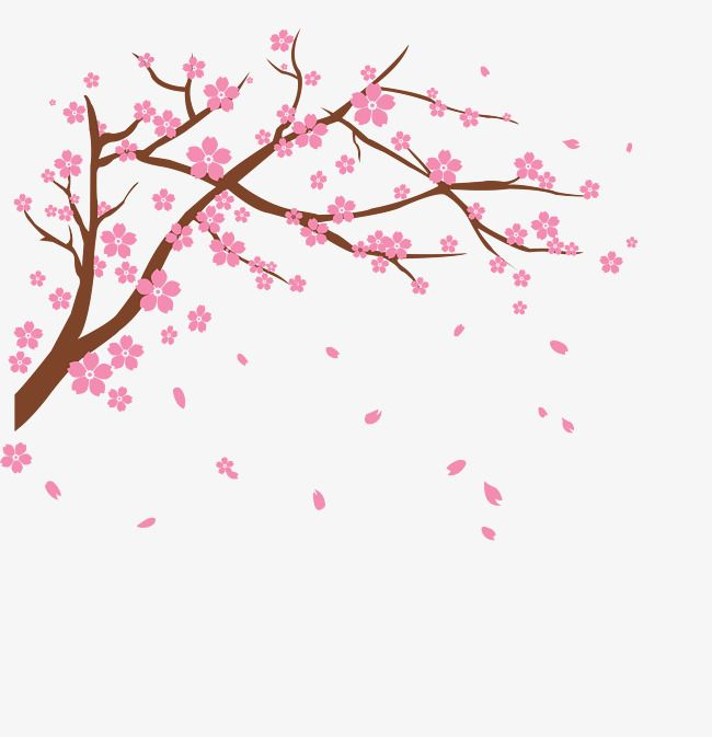 Branch with heart flowers png free clipart vector svg free library Vector Cherry, Vector, Cherry Blossoms, Flower PNG Transparent ... svg free library