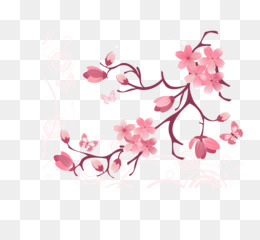 Branch with heart flowers png free clipart vector svg library Free download Clip art - Vector tree branches flowers png. svg library