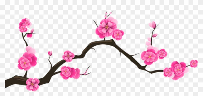 Branch with heart flowers png free clipart vector jpg Free Png Download Sakura Branch Transparent Png Images - Cherry ... jpg