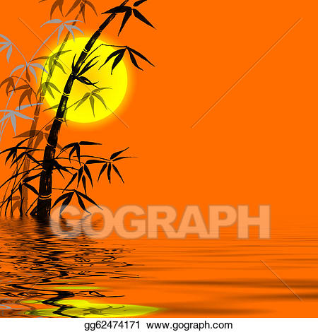 Branches of a river clipart vector library stock Stock Illustration - Silhouette of branches of a bamboo. Clipart ... vector library stock