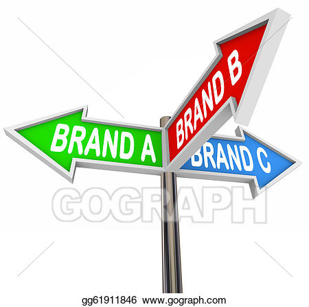 Brands clipart vector free Stock Illustration - Choose favorite brand street signs uncertainty ... vector free