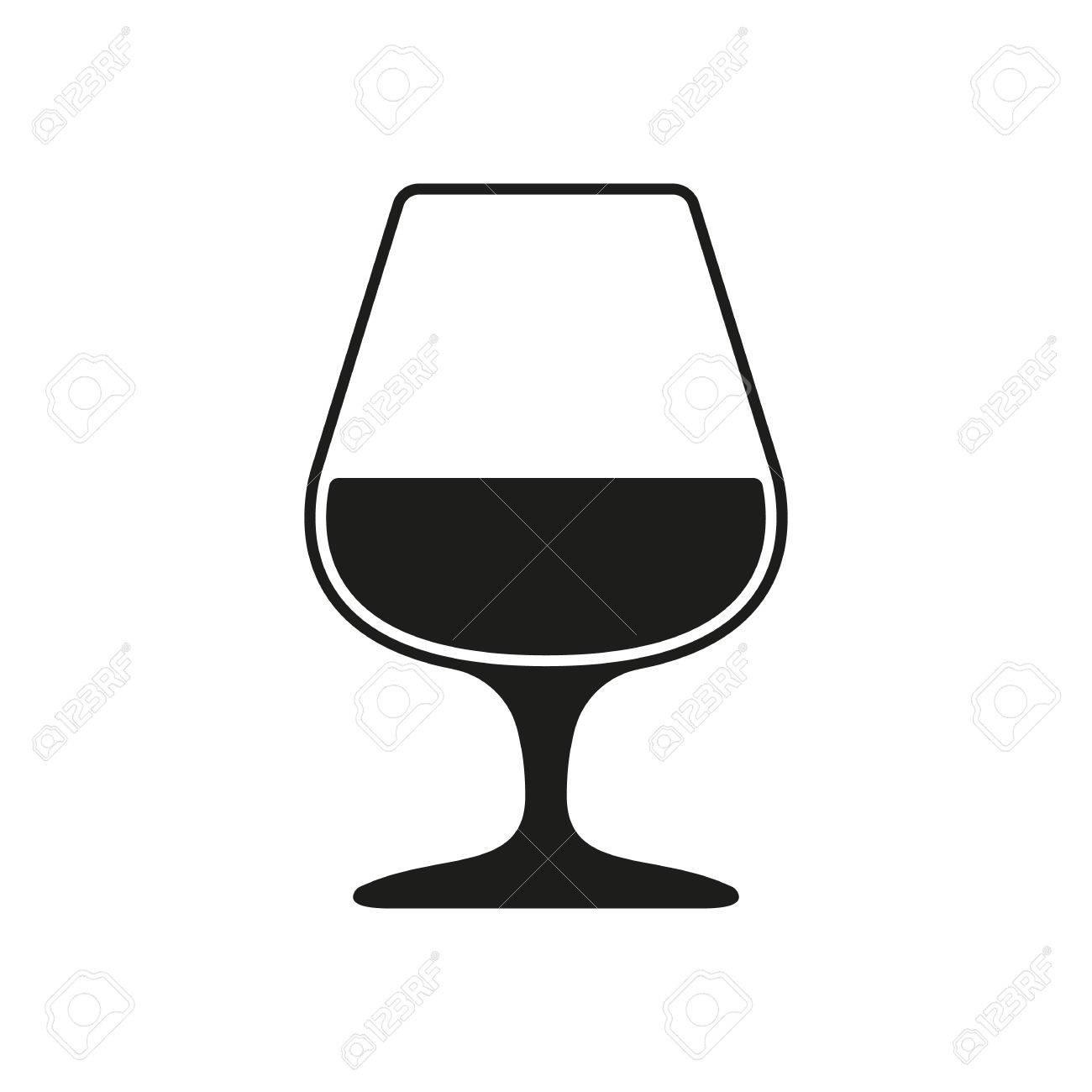 Brandy glass clipart jpg royalty free stock The Glass With Brandy Icon. Brandy Symbol. Flat Vector Illustr ... jpg royalty free stock