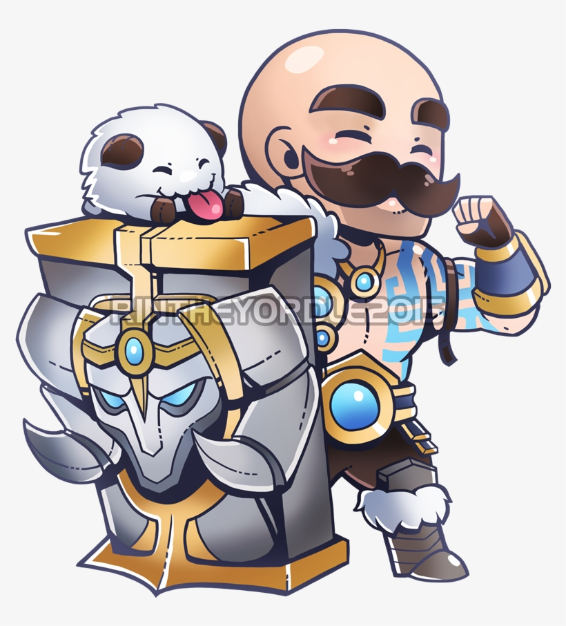 Braums clipart jpg free library Rin On Twitter - League Of Legends Braum Chibi PNG Image ... jpg free library