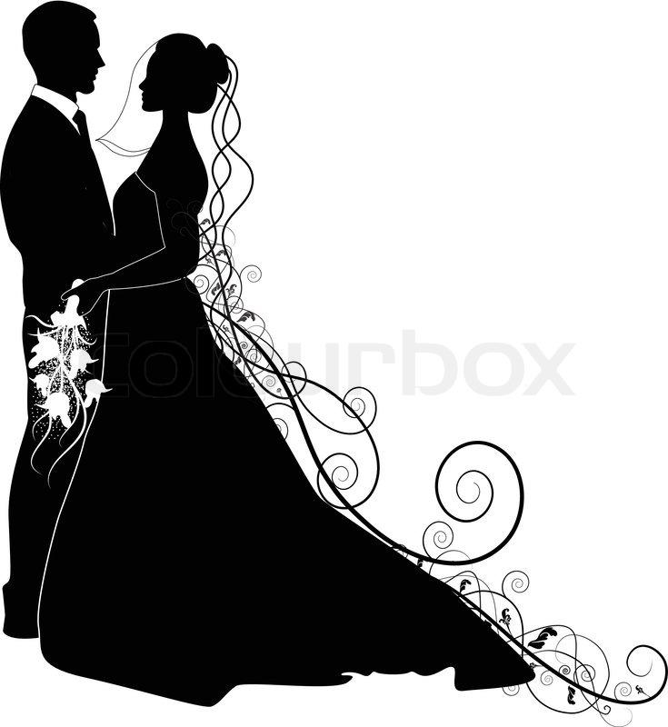 Braut und brutigam clipart clip library library WEDDING COUPLE | Stock Vector | Colourbox clip library library