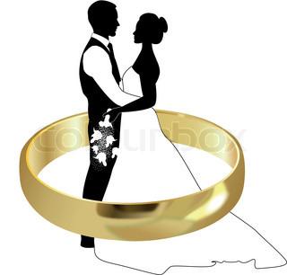Braut und brutigam clipart jpg transparent library Groom and bride | Stock Vector | Colourbox jpg transparent library
