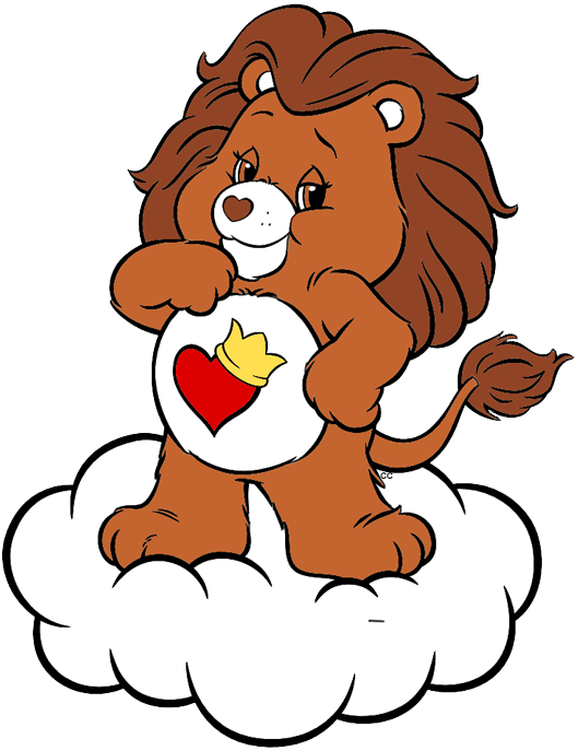 Braveheart clipart picture black and white Care Bears and Cousins Clip Art   Cartoon Clip Art picture black and white