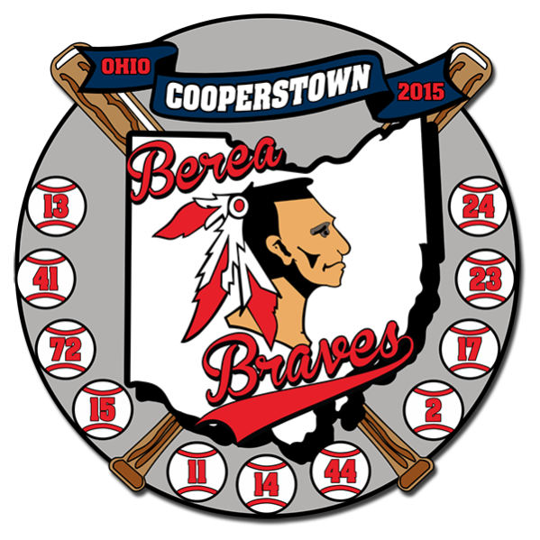 Braves girl baseball clipart jpg free download Cooperstown Pins | Cooperstown Trading Pins by The Pin Creator jpg free download