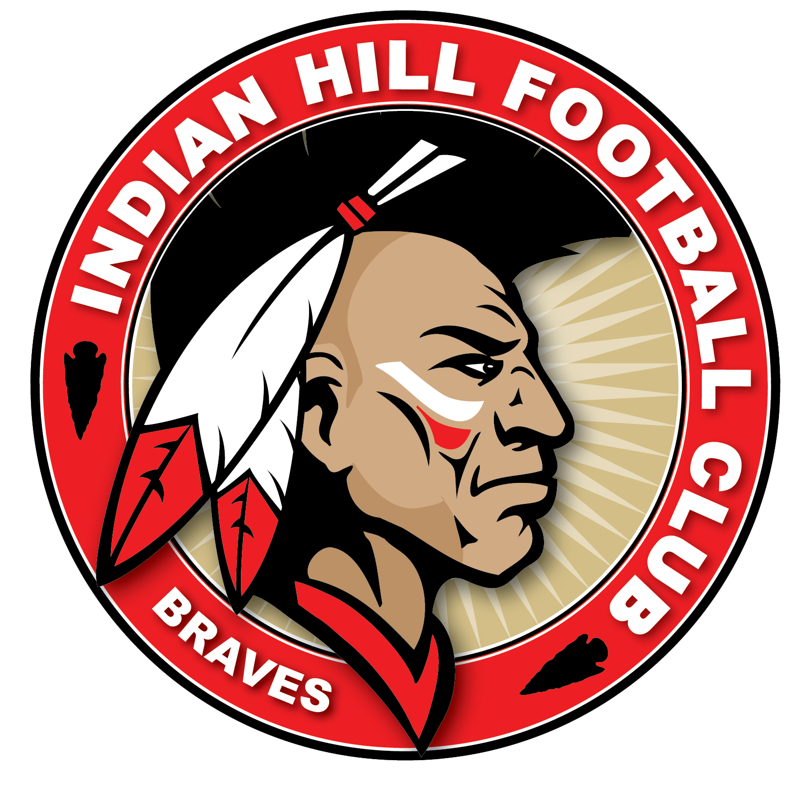 Twin valley football clipart clip library stock Indian hill football club logo braves sports | Mascot Branding And ... clip library stock