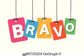 Bravo logo clipart clipart free Bravo Clip Art - Royalty Free - GoGraph clipart free