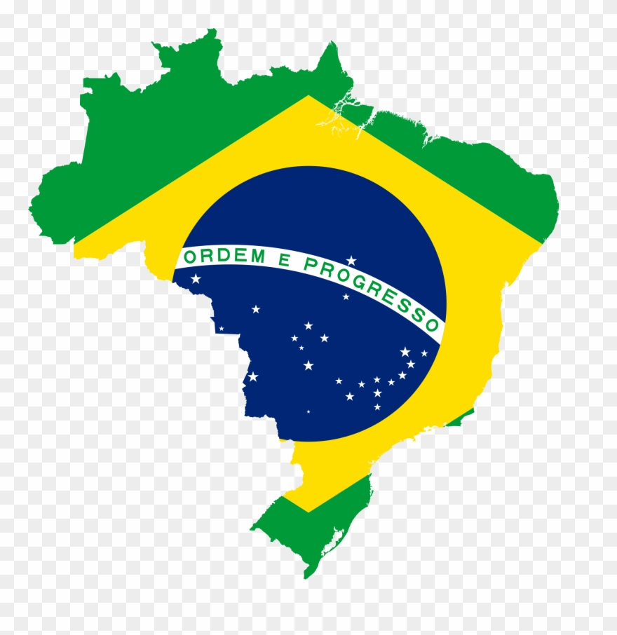Brazil clipart with brazil written on it