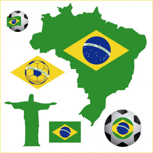 Brazil clipart graphic freeuse World Cup Brazil Clipart | Brazil | Fiesta brasileña, Manualidades y ... graphic freeuse
