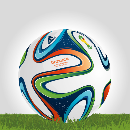 Brazuca clipart svg royalty free Vector Clipart: Brazuca, balón oficial Brasil 2014 - Vector svg royalty free