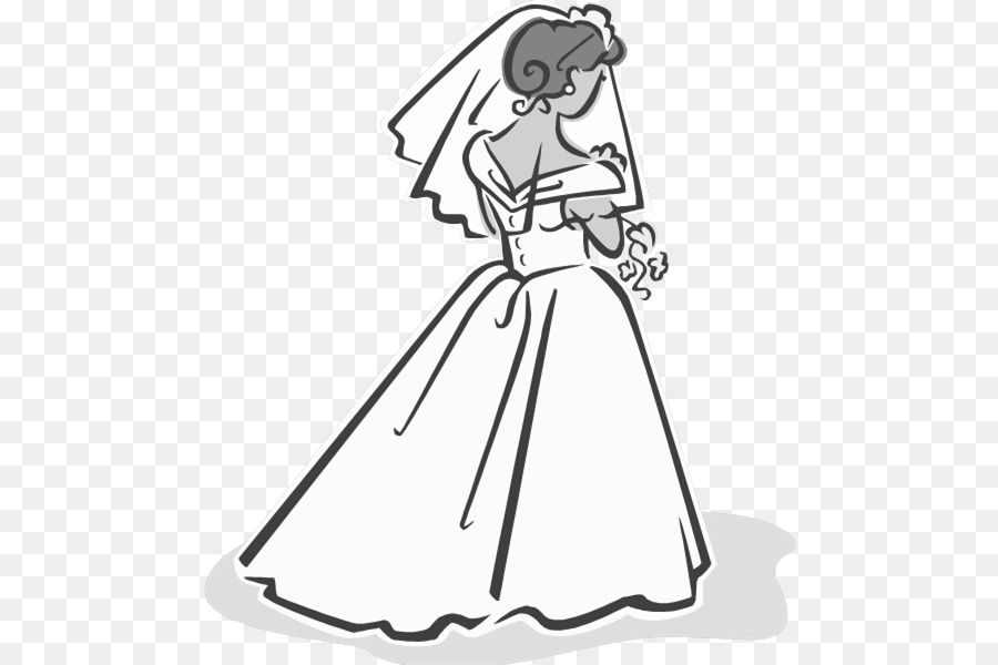 Bride clipart clipart transparent library Wedding Dress Drawing clipart - Bride, Wedding, Dress, transparent ... clipart transparent library