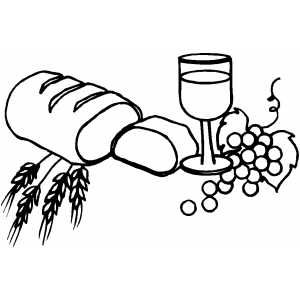 Bread and wine black and white clipart graphic royalty free download Bread And Wine   Crafts   Coloring pages, First communion, Embossing ... graphic royalty free download