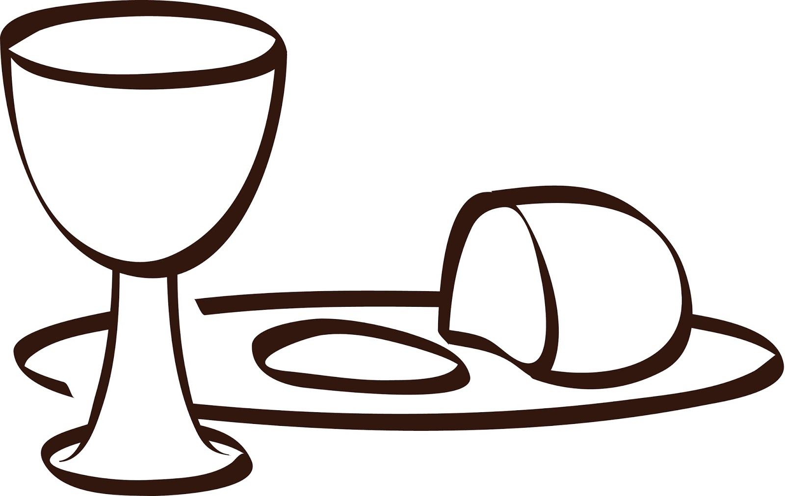 Bread and wine black and white clipart clip art download Cross Bread Cliparts - Cliparts Zone clip art download