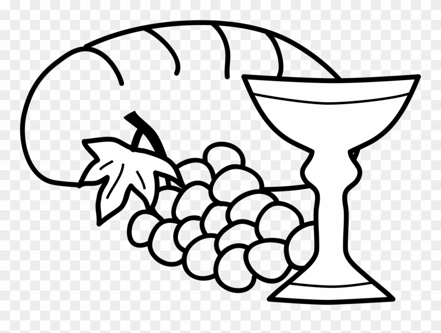 Bread and wine black and white clipart png library stock Big Image - Bread And Wine Drawing Clipart (#39973) - PinClipart png library stock