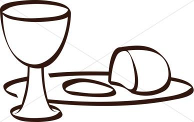 Bread and wine black and white clipart clip freeuse download Communion Clipart Black And White   Free download best Communion ... clip freeuse download