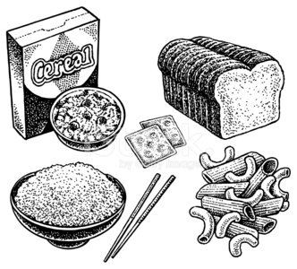Bread cereal rice and pasta group clipart clipart library Carbohydrates Crackers, Bread, Cereal, Rice, Pasta premium clipart ... clipart library