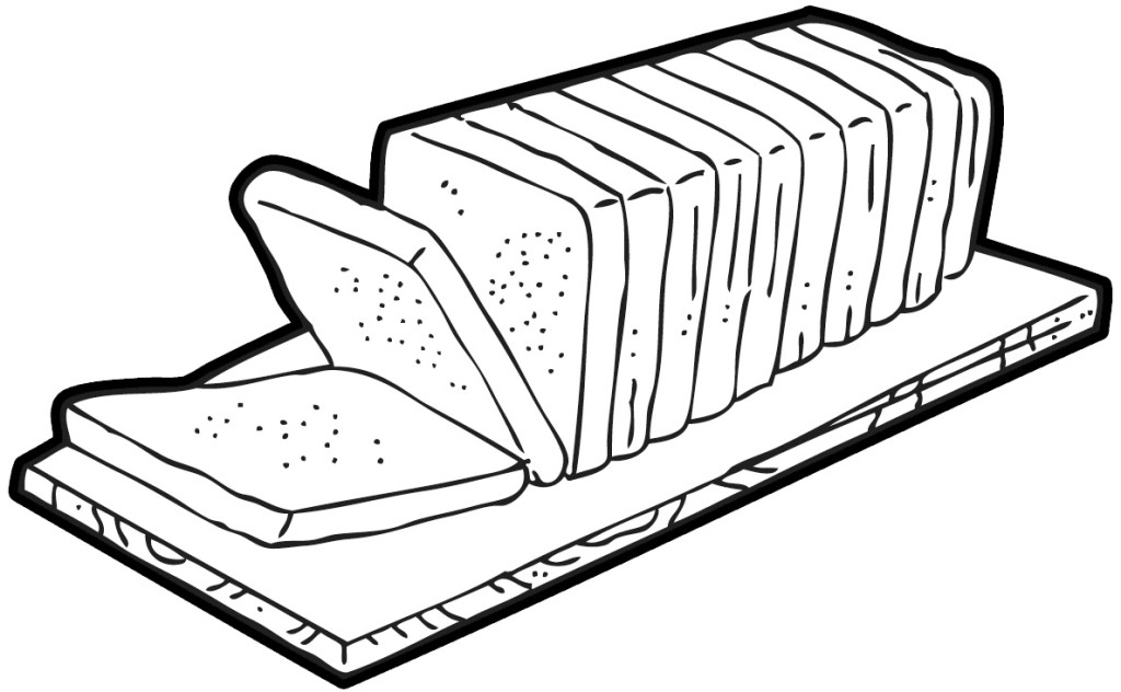 Bread clipart black and white