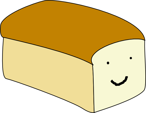 Bread clipart with face jpg transparent stock Loaf With Face Clip Art at Clker.com - vector clip art online ... jpg transparent stock