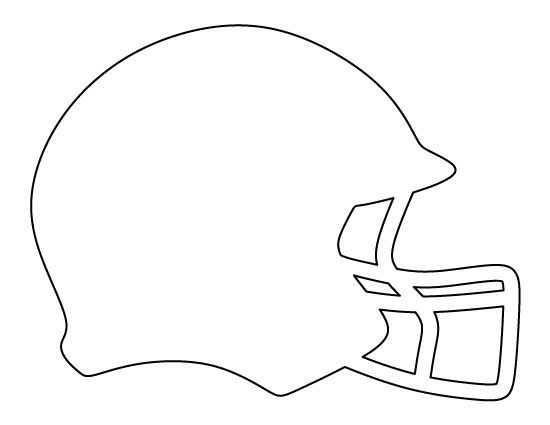 Pennant with football helmet clipart
