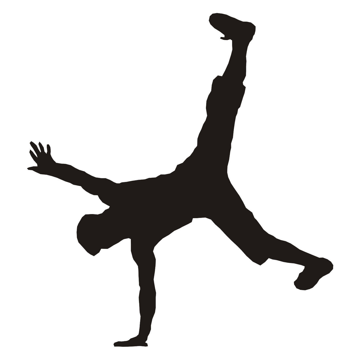 Breakdance clipart free clipart library Breakdancer | Download | Vector free, Silhouette vector, Dancer ... clipart library