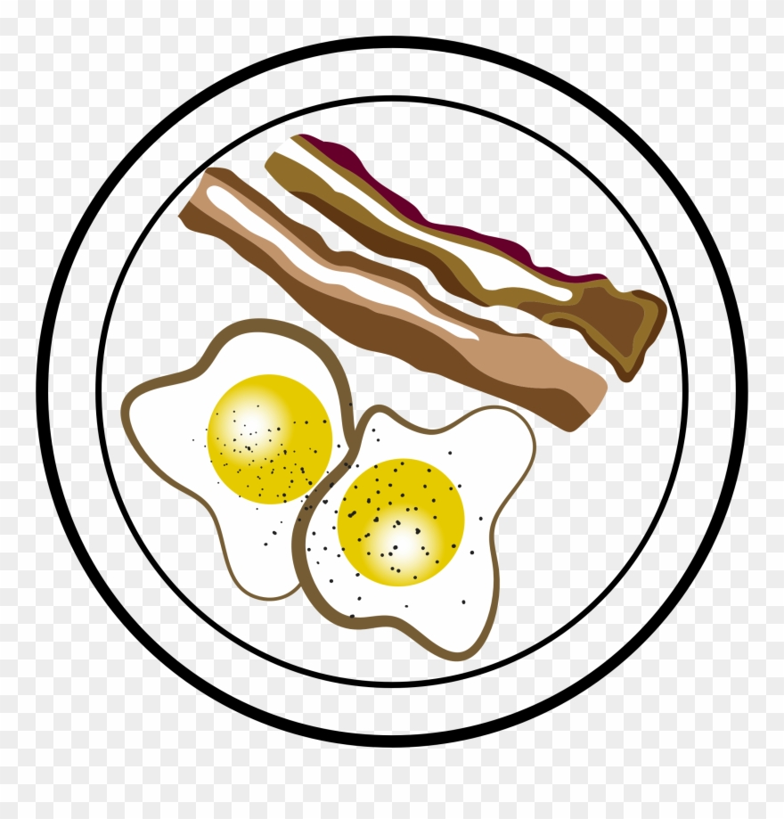 Breakfast bacon clipart banner royalty free download Breakfast - Clipart - Bacon Eggs Clipart - Png Download (#68896 ... banner royalty free download