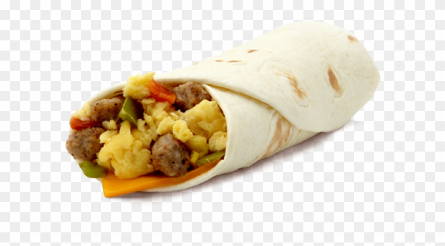 Breakfast burrito clipart svg black and white download Tortilla Clipart Burrito - Breakfast Burrito Mcdonalds - Png ... svg black and white download