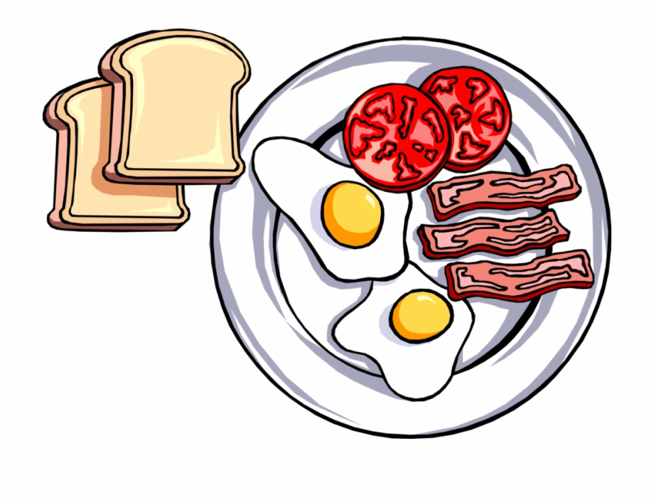 Breakfast clipart png jpg freeuse library Vector Illustration Of Hearty Breakfast Of Toast, Fried - Plate Of ... jpg freeuse library
