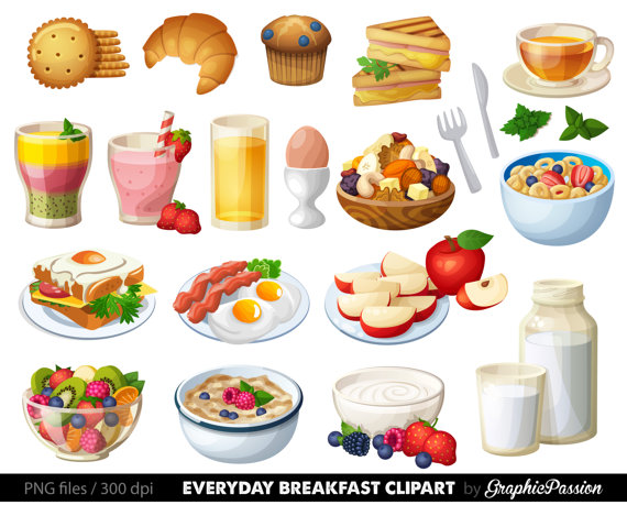 Breakfast meal clipart jpg black and white download Food Clipart Breakfast Cake Clip art Sweet Treat Bakery clip art ... jpg black and white download