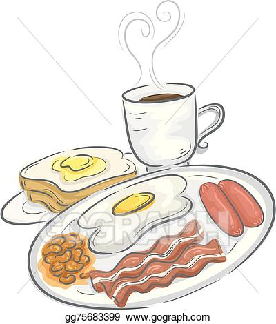 Breakfast meal clipart image free Vector Art - Breakfast meal. Clipart Drawing gg75683399 - GoGraph image free