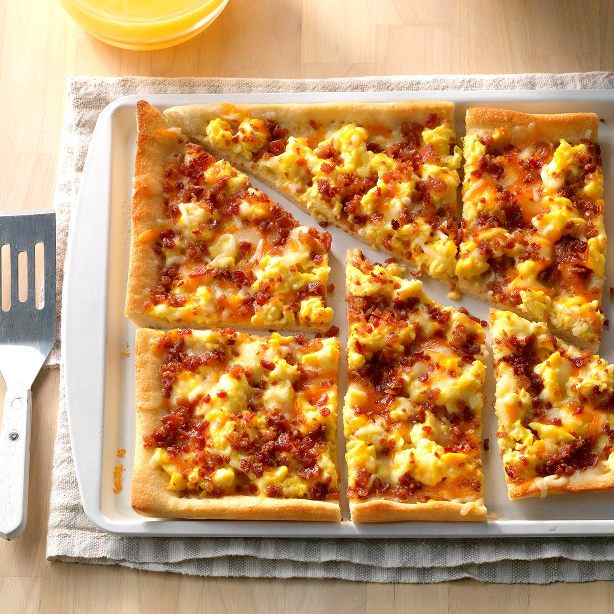 Breakfast pizza clipart png download Bacon Breakfast Pizza png download