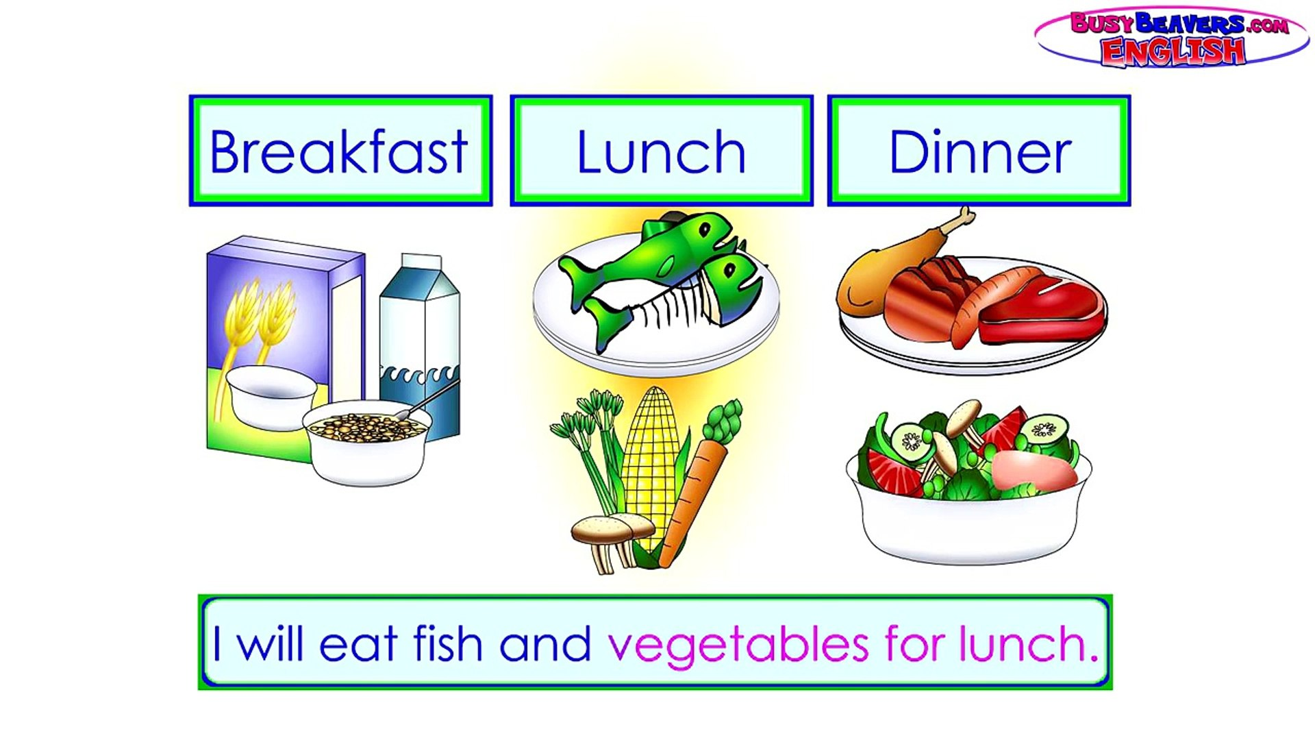 """Breakfast teach clipart picture black and white """"Breakfast, Lunch, Dinner"""" (Level 2 English Lesson 16) CLIP - Kids Food,  English Words, Meals picture black and white"""